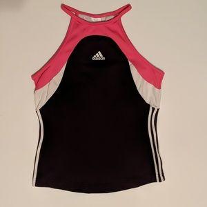 adidas Tops - Adidas Athletic Tank Small  Navy Pink  Shelf Bra